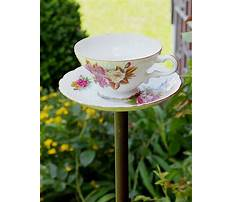 Best How to make tea cup bird feeders on poles