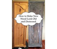 Best How to make wood furniture look distressed
