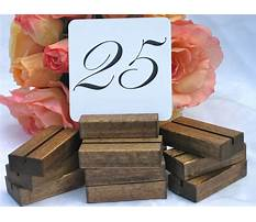 Best How to make wood table numbers