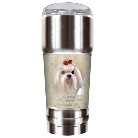 Howard Robinsons Schnauzer 18 Oz. Stainless Steel Travel Tumbler