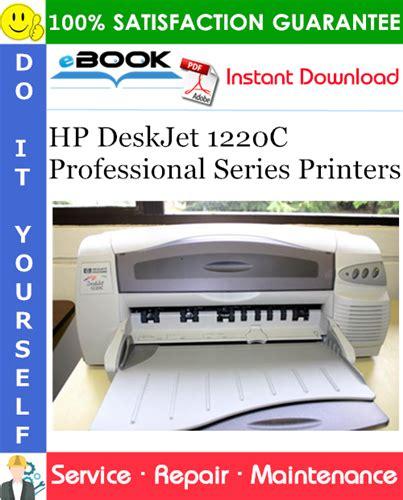 Hp Deskjet 1220c Professional Series Service Manuals