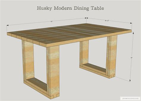 Husky-Modern-Dining-Table-Plans