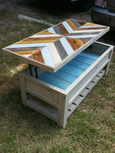 Hydraulic Drawercoffee Table Diy Underneath