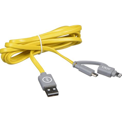 IJOY 2 in 1 Micro USB/Lightning 6FT Sync and Charge Cable (Yellow)