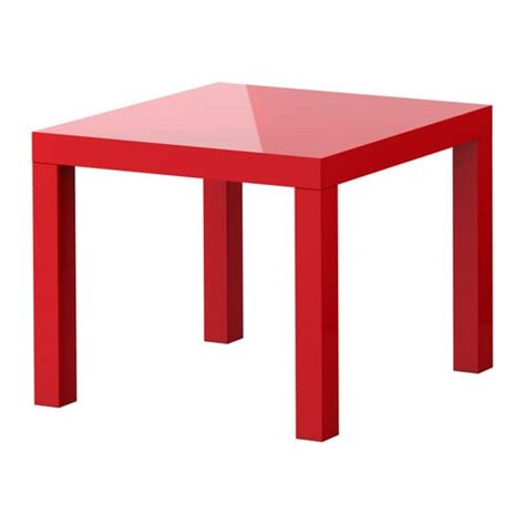 Ikea Lack Side Table Red