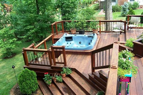 In Deck Hot Tub Plan