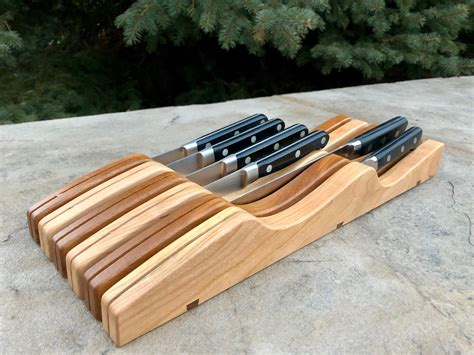 In Drawer Knife Rack Plans