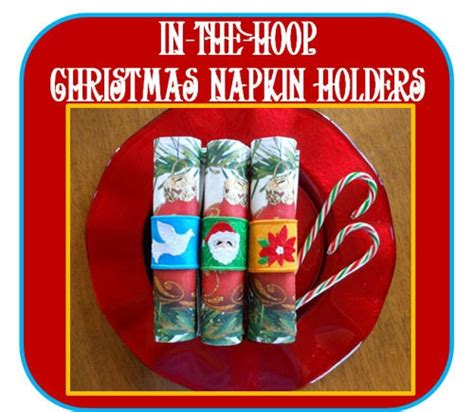 In The Hoop Christmas Napkin Holder Designs