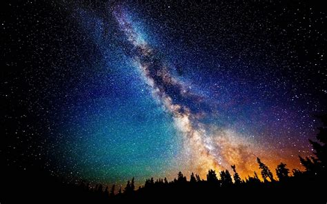 The Sky Milky Way Galaxy Wallpaper