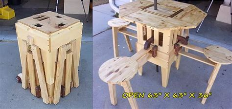 Incredible Folding Picnic Table Plans