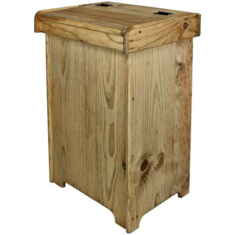 Indoor Wooden Trash Can Holders