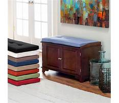 Best Indoor wood benches with cushion