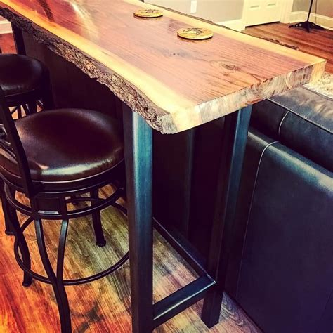 Industrial Bar Table Diy Hardware
