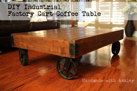 Industrial Cart Coffee Table DIY