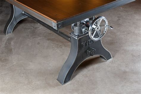 Industrial Crank Table Diy With Shelf