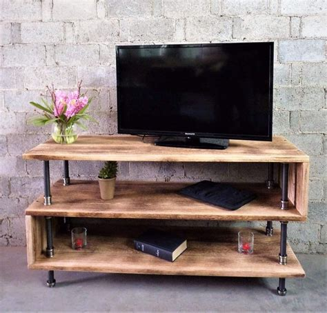 Industrial Pipe And Wood Tv Stand Diy