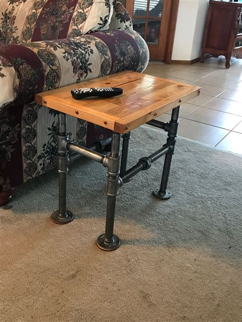 Industrial Pipe End Table Diy Paint
