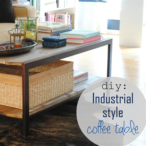 Industrial Style Coffee Table Diy Pictures