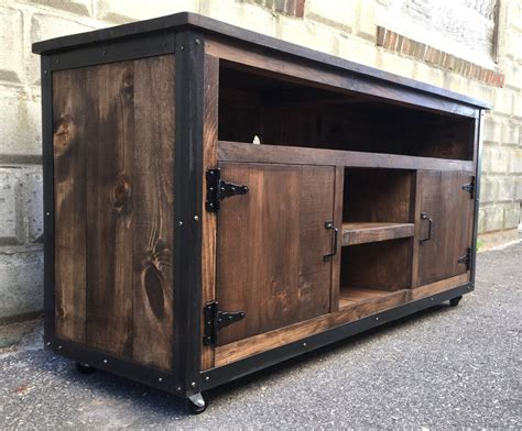 Industrial Style Tv Stand Diy With Barn