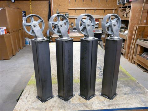 Industrial Table Legs With Wheels