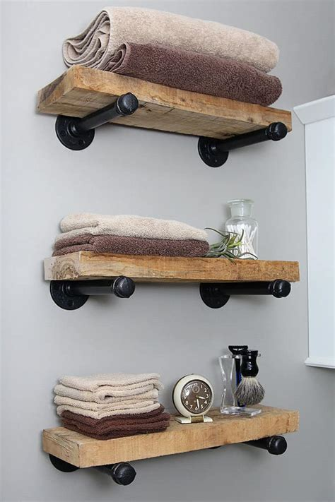 Industrial Wood Shelves Diy