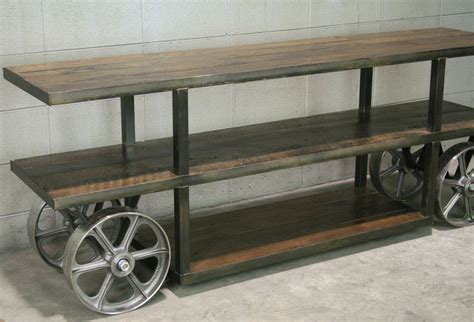 Industrial-Cart-Tv-Stand