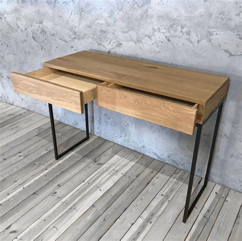 Industrial-Console-Table-With-Drawers