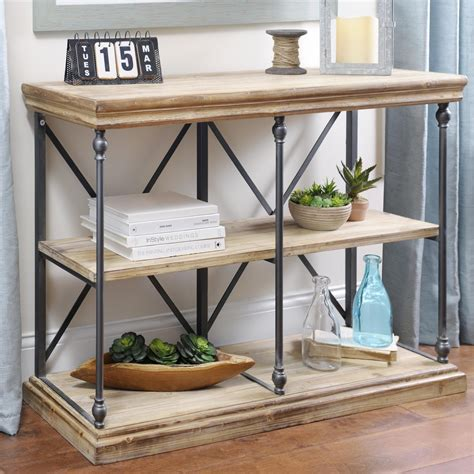 Industrial-Farmhouse-Console-Table-With-Shelves