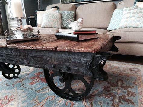 Industrial-Farmhouse-End-Table-Cart