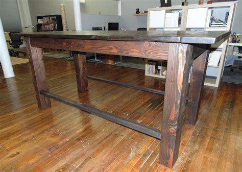 Industrial-Farmhouse-Pub-Table