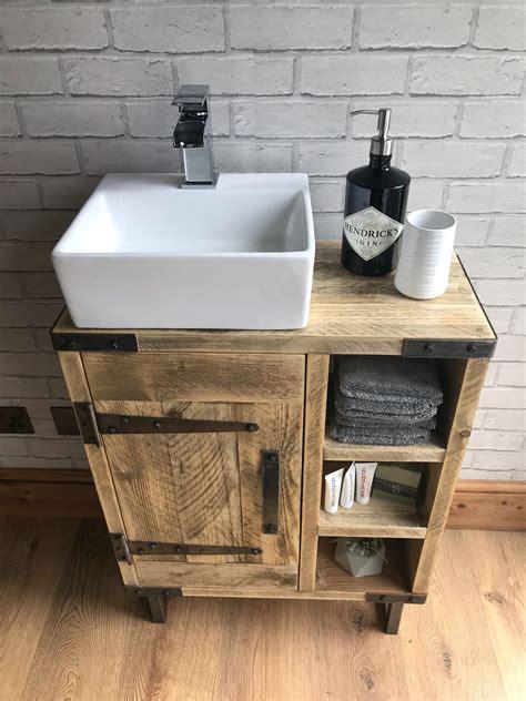 Industrial-Rustic-Bathroom-Vanity-Diy