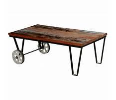 Best Industrial cart coffee table