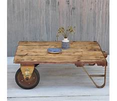 Best Industrial cart coffee table images