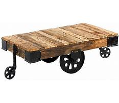 Best Industrial cart coffee table with wheels