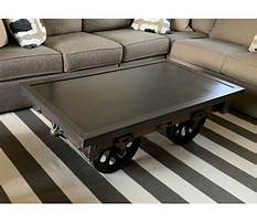 Best Industrial cart coffee tables