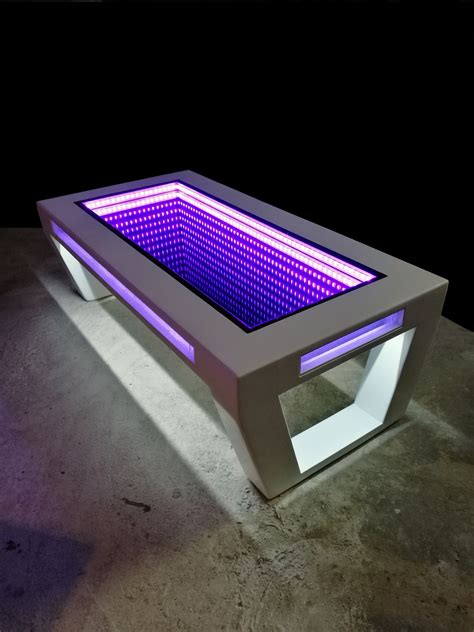 Infinity Mirror Table Diy
