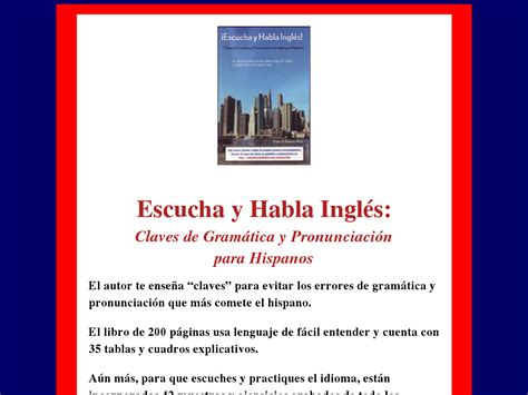 @ Ingl S Para Latinos English For Hispanos Pronunciar .