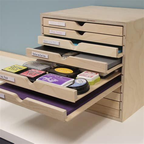 Ink Stamp Storage Cabinet Plans