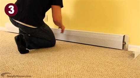 Installing Baseboard Heater Covers