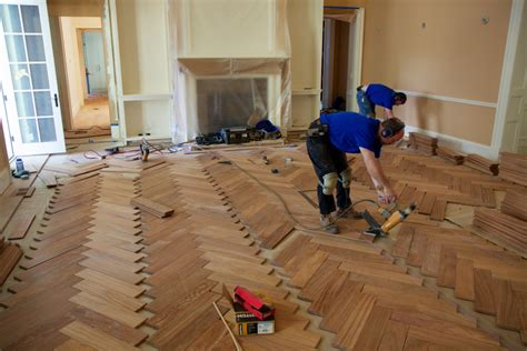 Installing Herringbone Engineered Wood Flooring