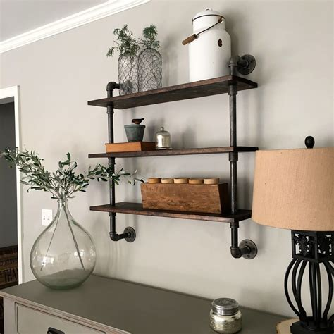 Installing Industrial Galvanized Pipe Shelves Diy