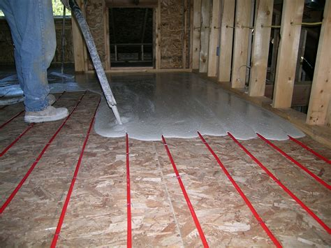 Installing Wood Floor Over Concrete With Radiant Heat