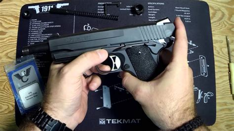 Installing A Wilson Combat Extended Slide Stop On Sig Sauer 1911 Tac Ops.