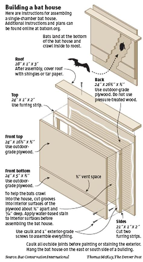 Instructions For Building A Bat House