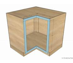 Best Instructions for building a corner cabinet