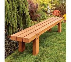 Best Instructions to build wooden benches