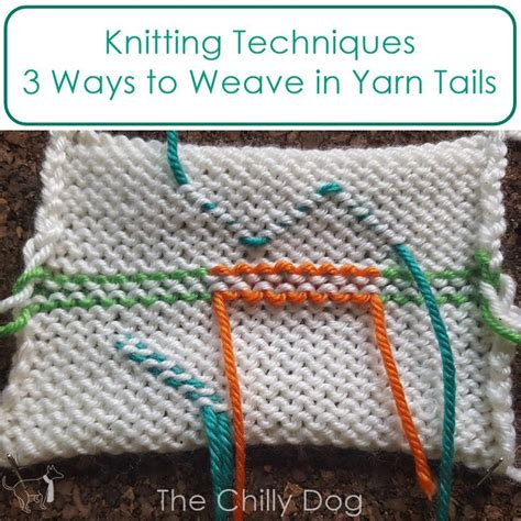 Intarsia How To Weave In Loose Ends
