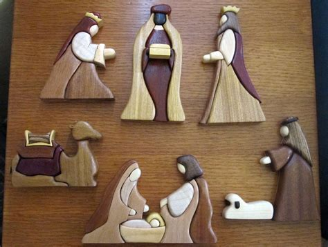 Intarsia Nativity Pattern Free