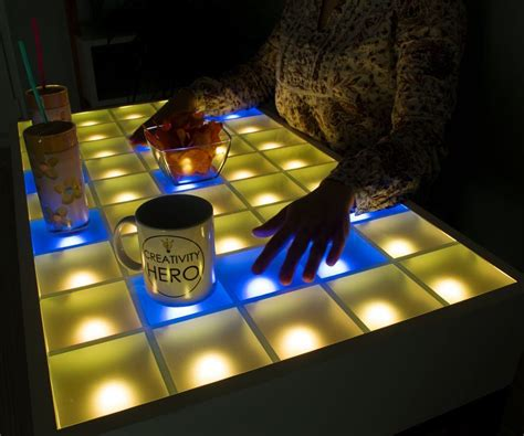 Interactive Led Table Diy Chalk