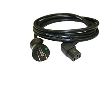 Interpower 86611620 North American Hospital Grade Cord Set, NEMA 5-15 Plug Type, IEC 60320 C13 Connector Type, Gray, 15A Amperage, 125VAC Voltage, 3.05m Length